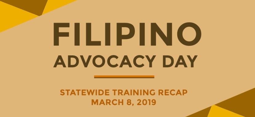 Recap: Filipino Advocacy Day StatewideTraining