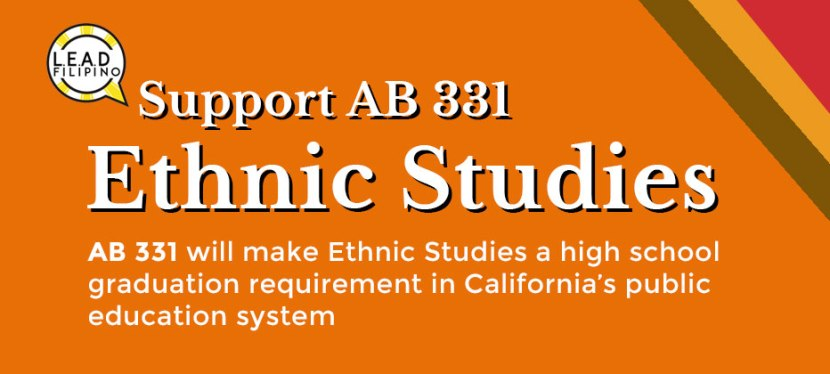 Support AB 331 (Ethnic Studies)